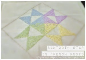 Sawtooth Star in French Knots